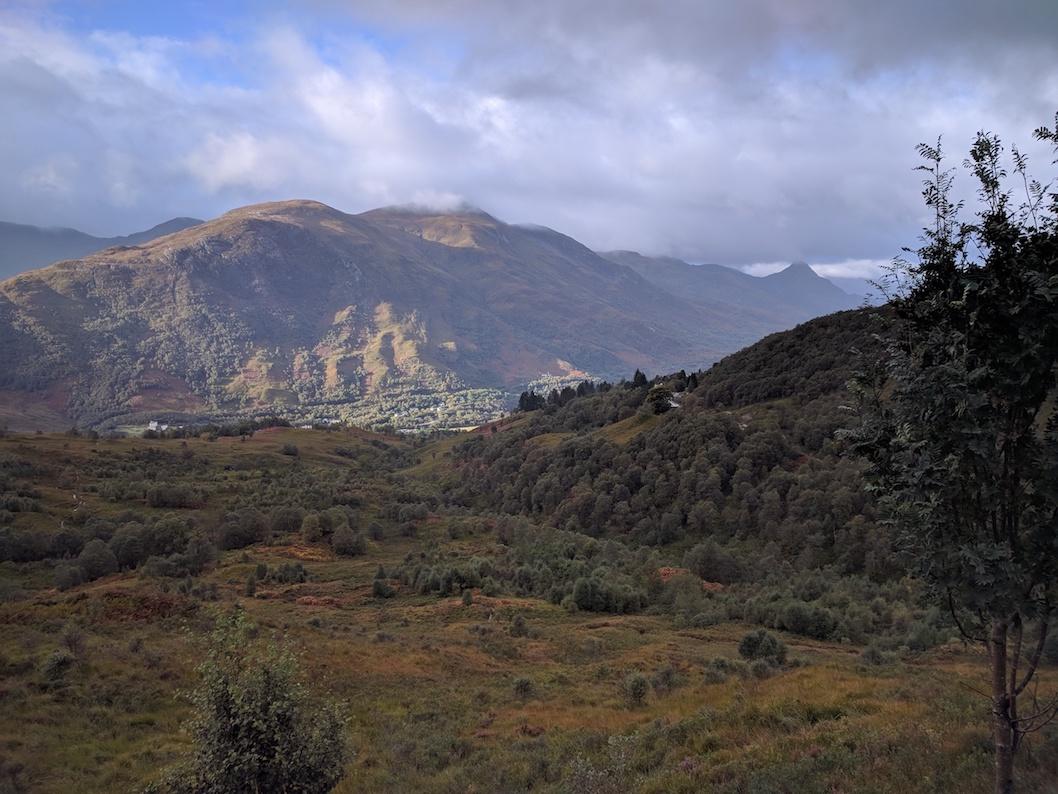 views towards kinlochleven