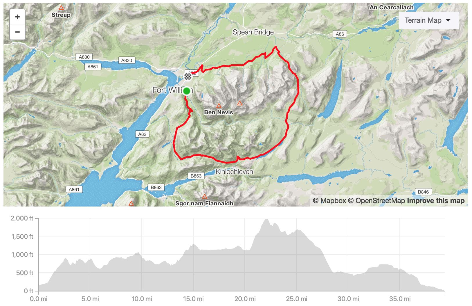 map of marathon de ben nevis