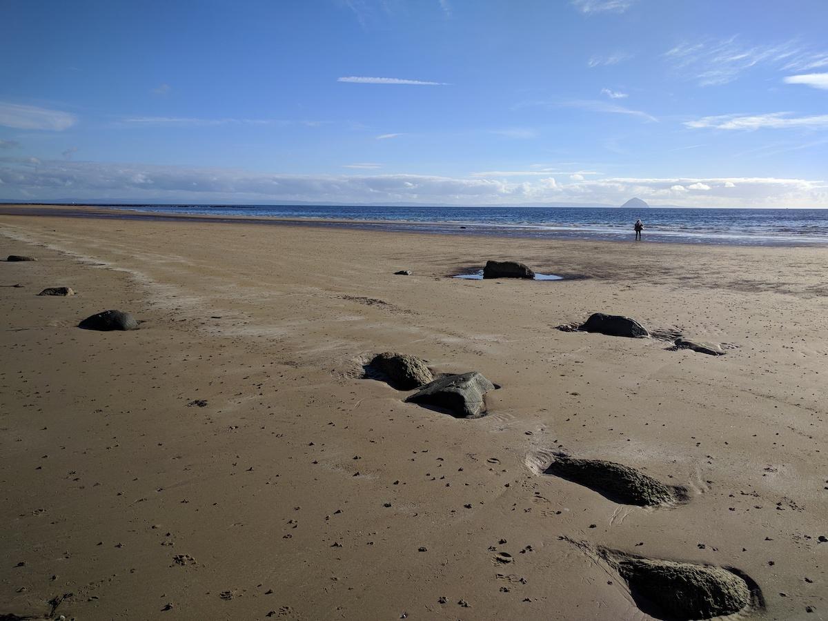 running on kilmory beach