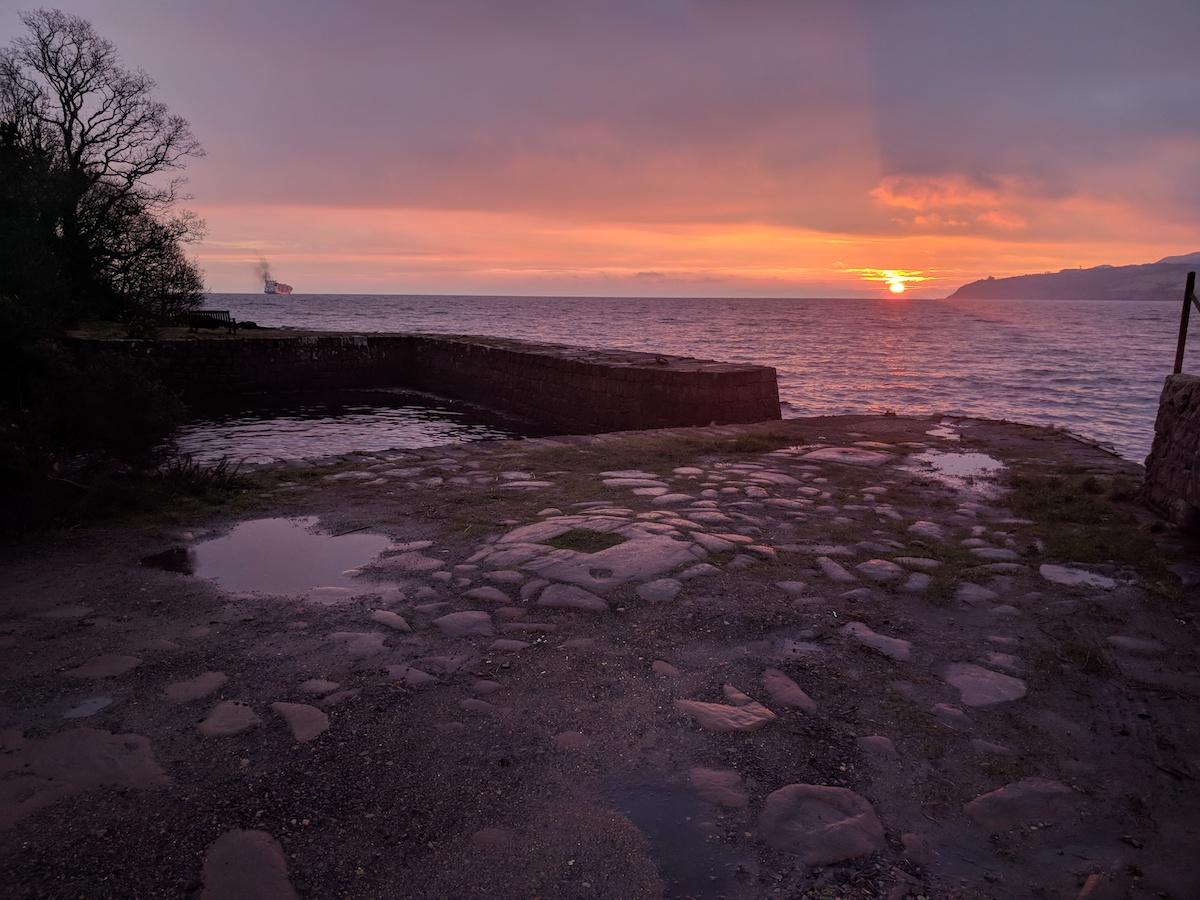 winter sunrise at brodick