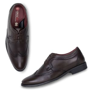 Brown Leather Formal Laceup Shoes for Men