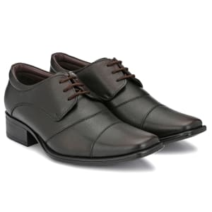 Brown Genuine Leather Formal Lace Shoes for men