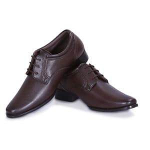 Brown Formal laceup shoes for men