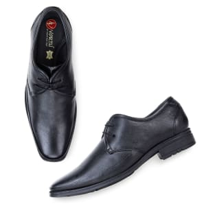 Black Genuine Leather Formal Lace Shoes for men