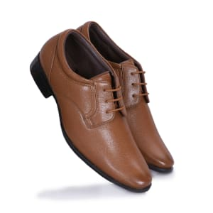 Tan Formal laceup shoes for men