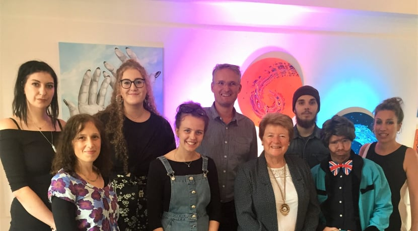 Emerging local artists exhibit their colourful work at Worcester Arts Workshop