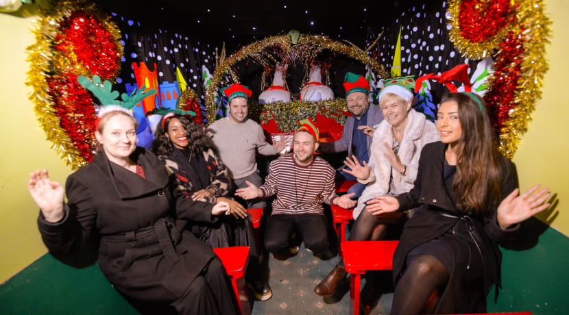 Businesses bring sleigh-ride joy to Coventry youngsters