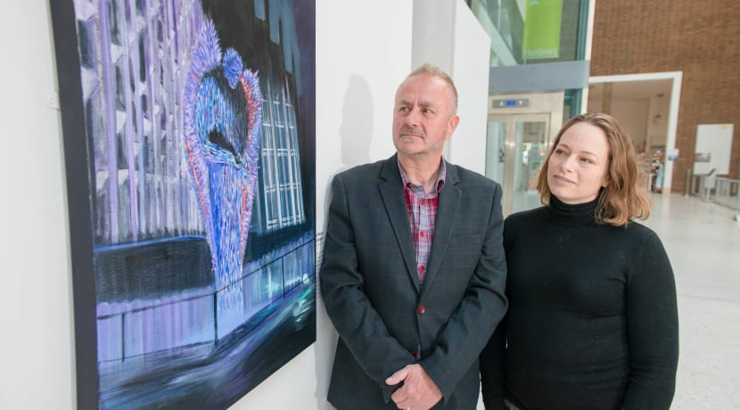 Knife Angel painting unveiled at The Herbert