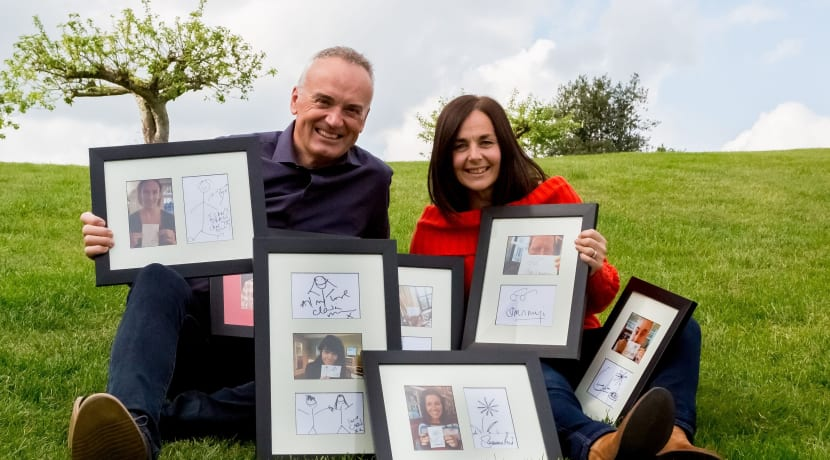 Celebrities 'doodle' to raise money for local charity