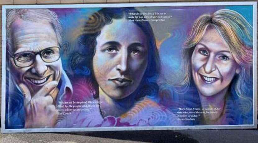 Cultural icons wall appears in Nuneaton
