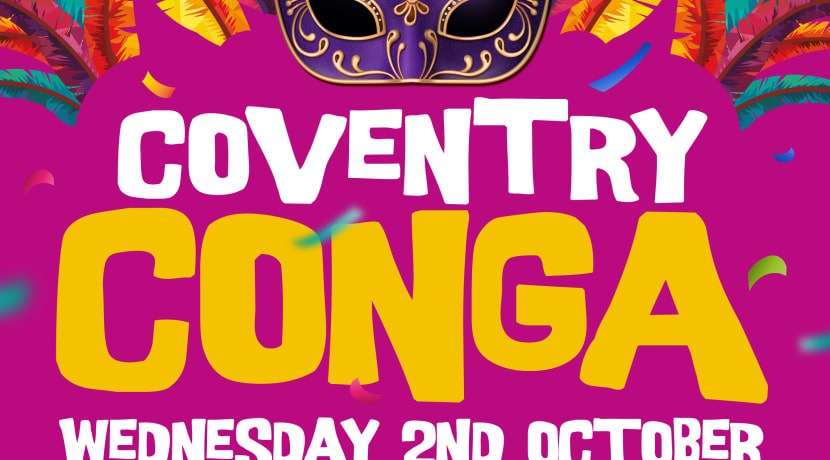 World record attempt congas in to Coventry