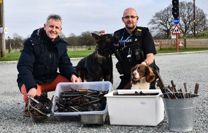 Sculpture unveiled to honour police dogs in Worcester