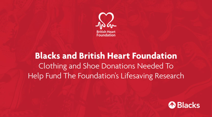 Blacks Outdoors in Worcester Teams Up With British Heart Foundation