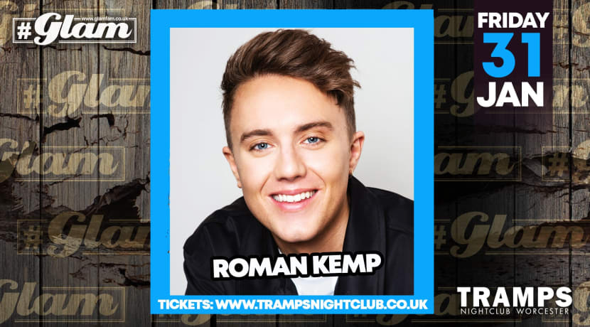 Enjoy a glam evening with Roman Kemp