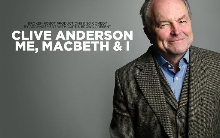 Clive Anderson's UK tour of 'Me, MacBeth and I' coming to Bromsgrove & Evesham