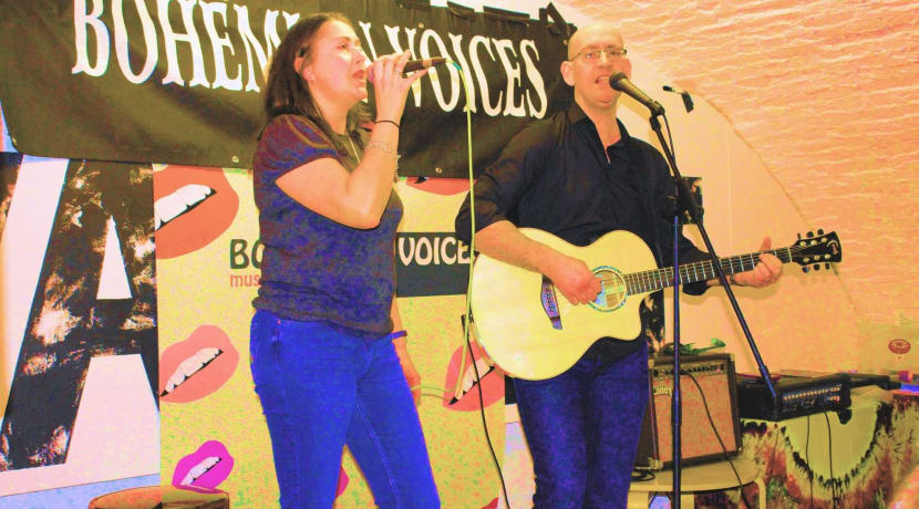 Up and coming comedy, poetry and music talent with Bohemian Voices