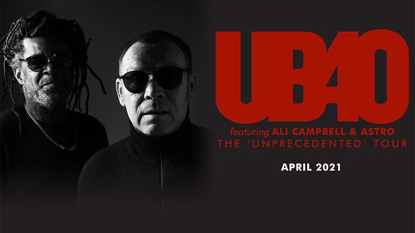 UB40 featuring Ali Campbell & Astro bring 2021 tour to the Midlands