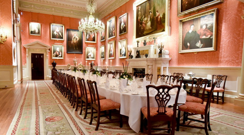 Valentine's celebrations in newly renovated historic dining room at Weston Park
