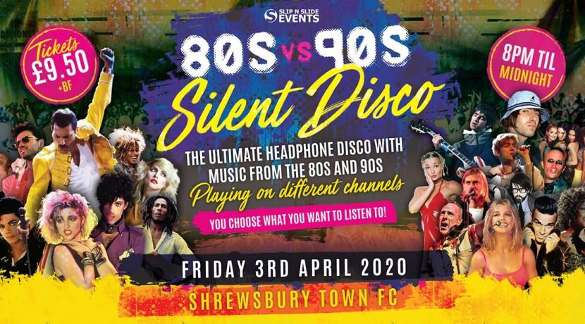 80s vs 90s Silent Disco at Shrewsbury Town FC