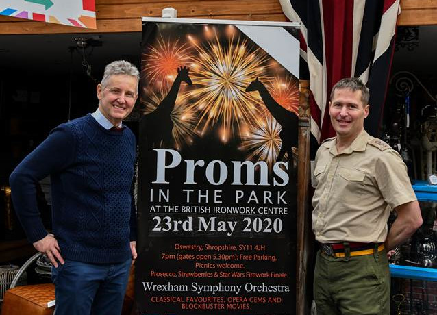 Ironworks' Proms in the Park supporting the Veterans' Ward at Gobowen Orthopaedic Hospital