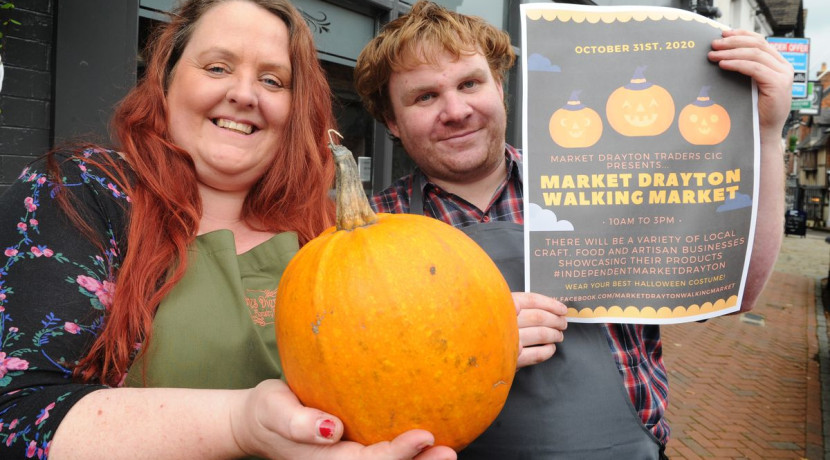 Halloween-themed walking market at Market Drayton