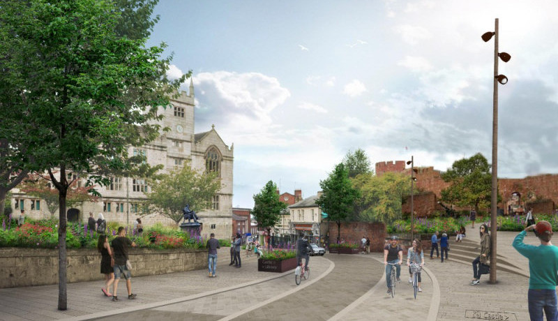 Plans unveiled to transform Shrewsbury's Castle Street