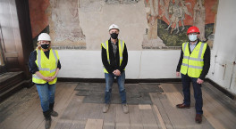 England's only surviving wall painting in a Carthusian monastery restored in Coventry
