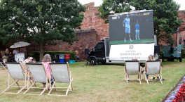Zoom 1hr to deliver to Wimbledon big screen at Shrewsbury Castle