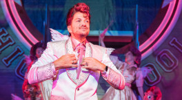 Peter Andre is back on the road with Grease