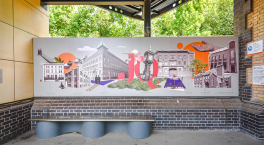 New community-led art mural unveiled at Jewellery Quarter station