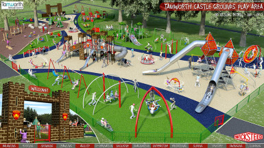 Designs revealed and work to start on new play area at Tamworth Castle