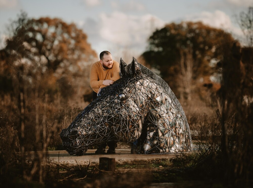 Shropshire's Trojan Horse Sculpture - from the creator of the Knife Angel