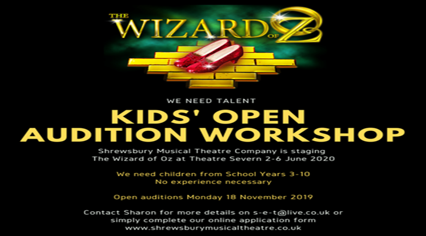 Open auditions for children to be in The Wizard of Oz musical