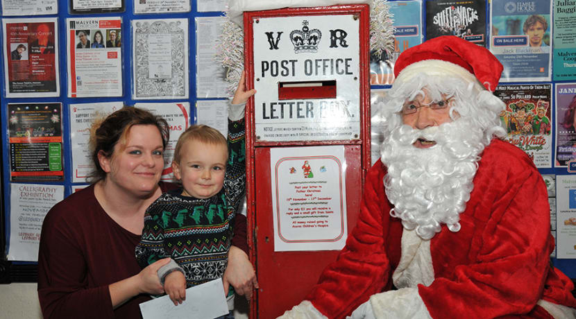 Post a letter to Father Christmas from Malvern TIC
