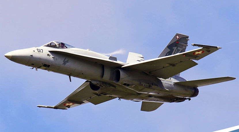 Swiss Fighter Jet adds noise to Air Show line-up