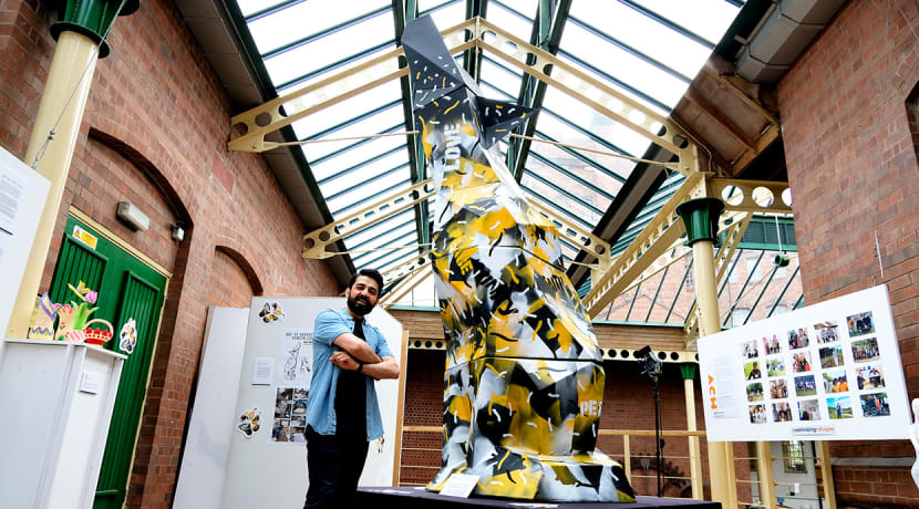 ACH Wolverhampton unveil 4.5-metre wolf for Refugee Week