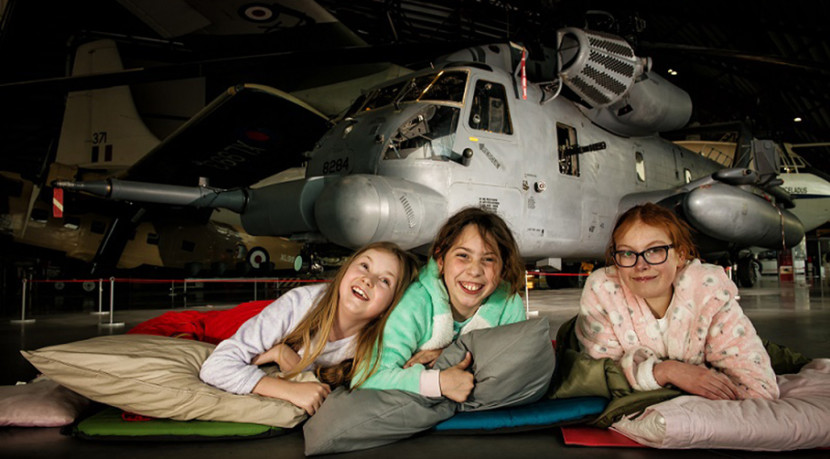 It's chocks away for Museum sleepovers