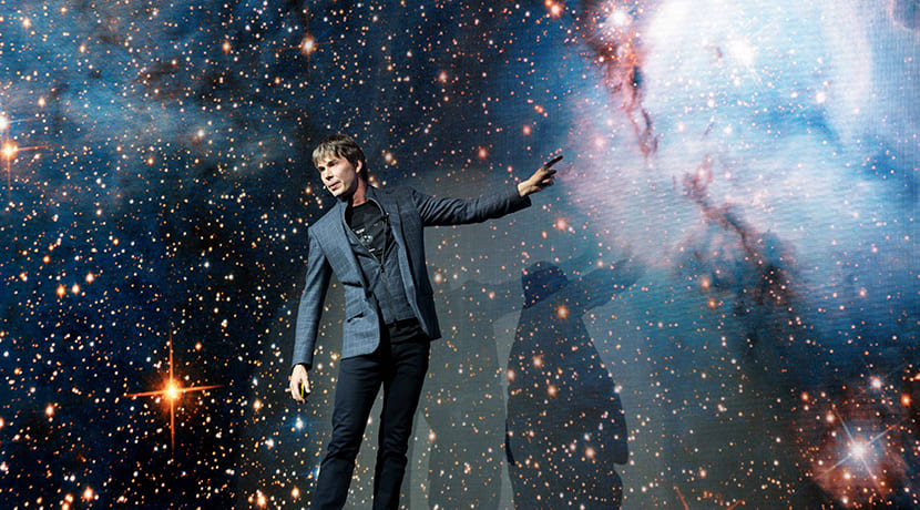 Professor Brian Cox takes us on adventure in space and time