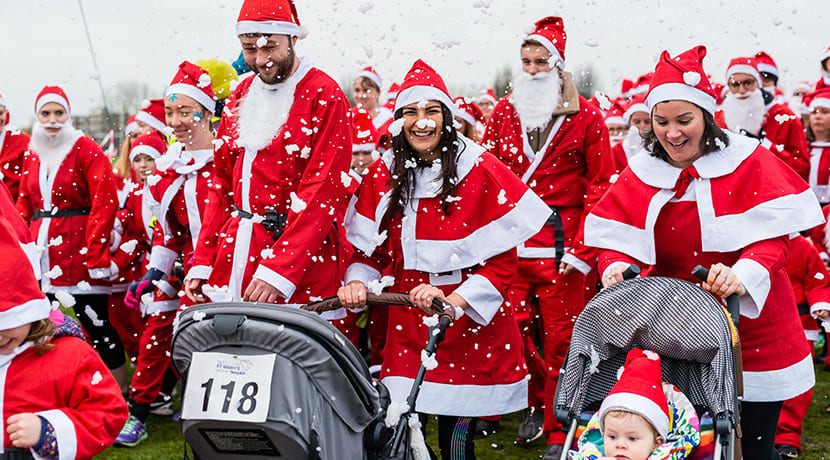 Kickstart the festive season with a jolly Santa-themed run