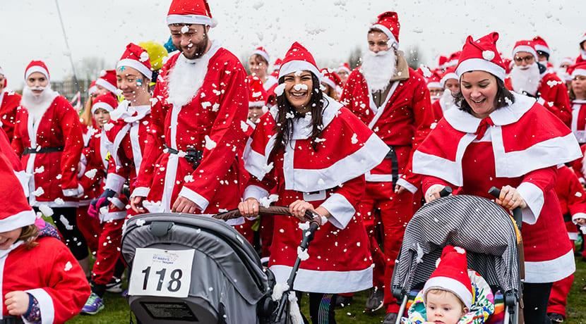 Kickstart the festive season with a jolly Santa-themed run