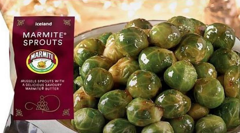 Iceland is selling Marmite Brussels sprouts for Christmas