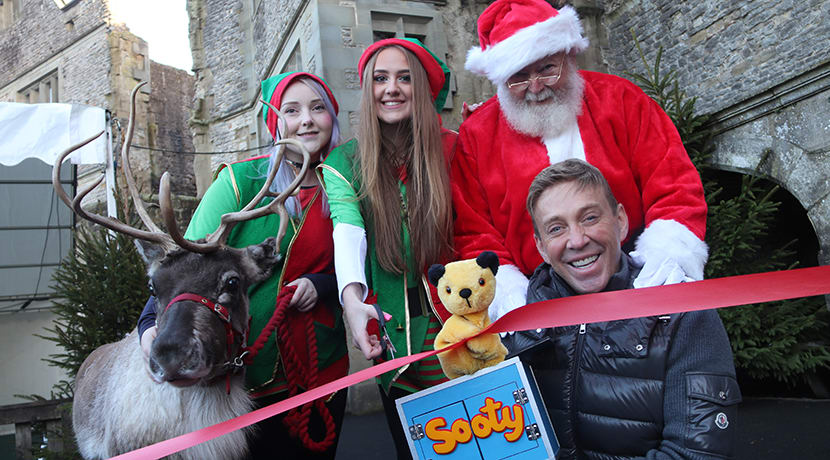 Richard Cadell and Sooty from Grand Theatre pantomime open Christmas Grotto