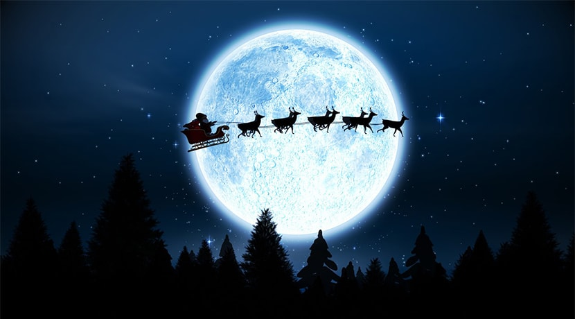 Santa set to be visible in the UK skies tonight, Wednesday and Thursday