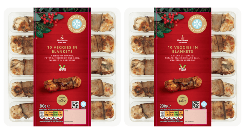 Morrisons has launched vegan 'pigs in blankets' in time for Christmas