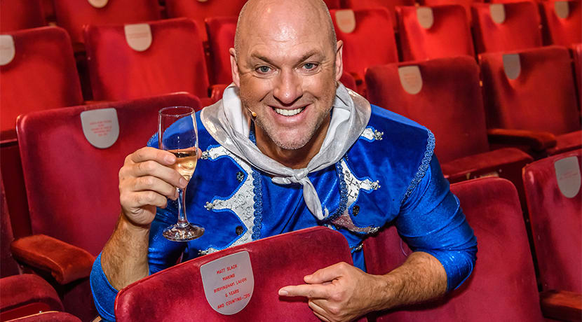 Matt Slack honoured with dedicated seat at Birmingham Hippodrome
