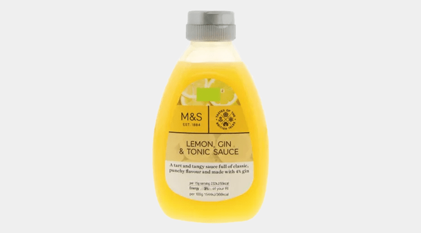Marks & Spencer is selling lemon, gin and tonic sauce for Pancake Day