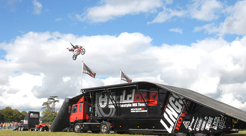 Stunt magic at Staffordshire's county show