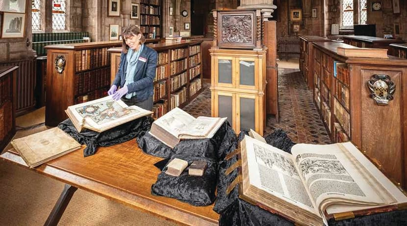 Library tours at the cathedral