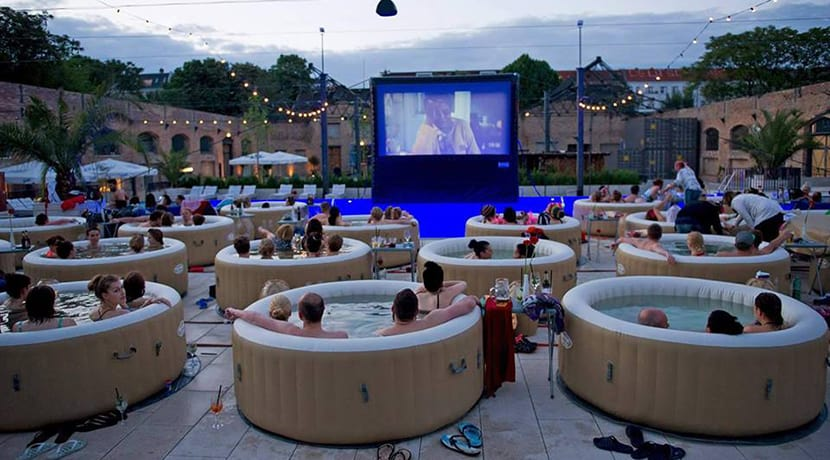 A hot tub cinema experience is coming to Birmingham this summer