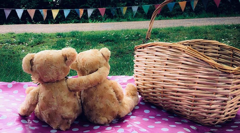 It's picnic time for teddy bears at Avoncroft this bank holiday